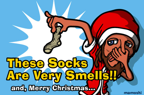 These socks are very smells!
